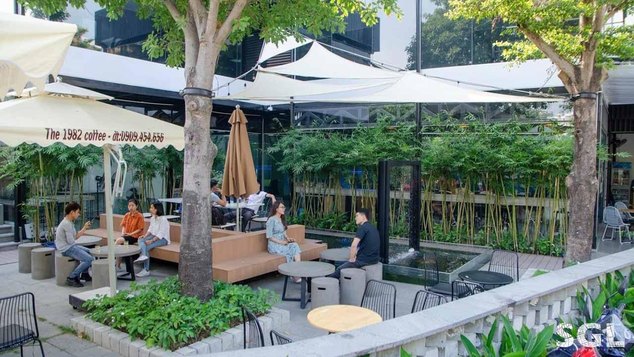 Dự án Thiết Kế Quán Cafe Sân Vườn Desworking SGL