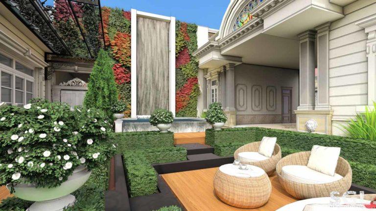 Dự án Thiết Kế Sân Vườn Biệt Thự Penthouse Phú Cường