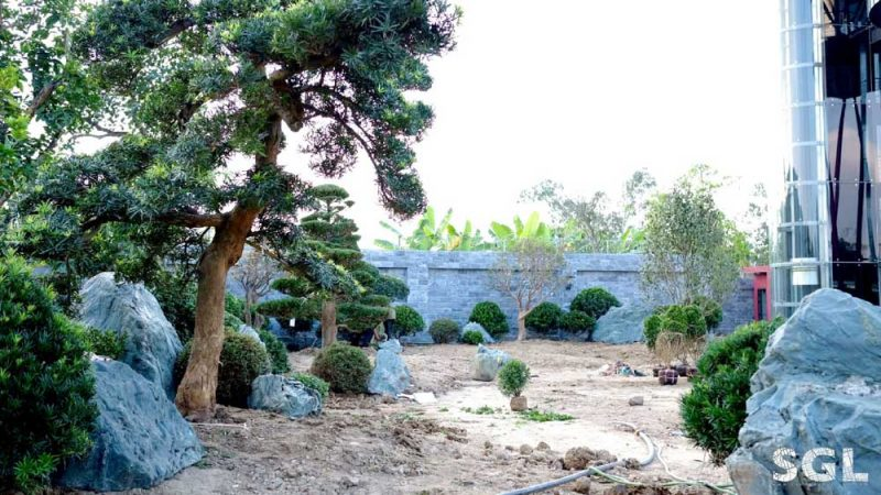 Đá xanh xuất hiện rất nhiều trong các khu vườn phong cách Nhật Bản