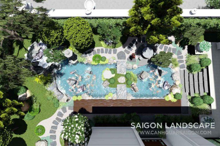 Thiết Kế Sân Vườn Biệt Thự Phong Cách Nhật Bản - Quận 7