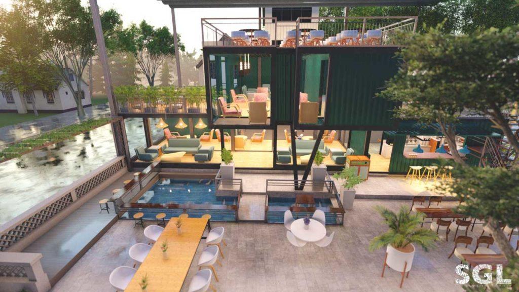 Dự án Thiết Kế Quán Cafe Container của SGL