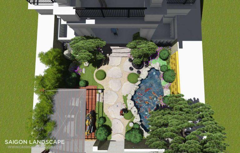 Dự án Thiết Kế Sân Vườn Tropical Garden - TP.HCM