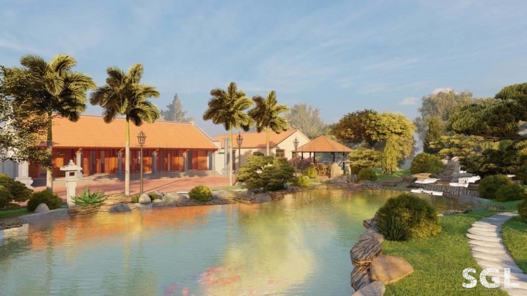 Mẫu thiết kế nhà vườn 1 tầng Phong cách vườn Nhật Bản đang là xu hướng