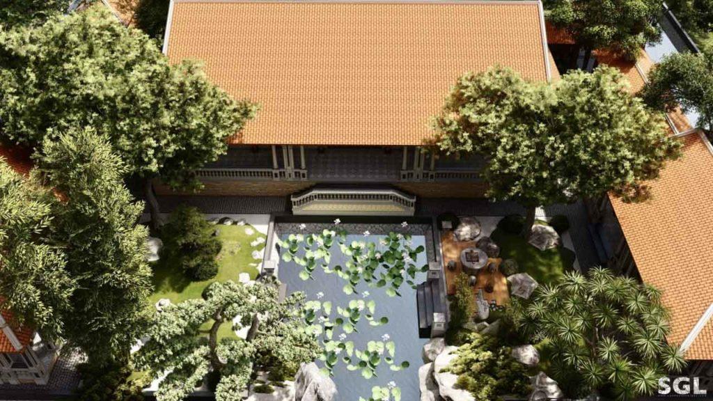 Mẫu thiết kế nhà vườn 1 tầng phong cách truyền thống Nam Bộ