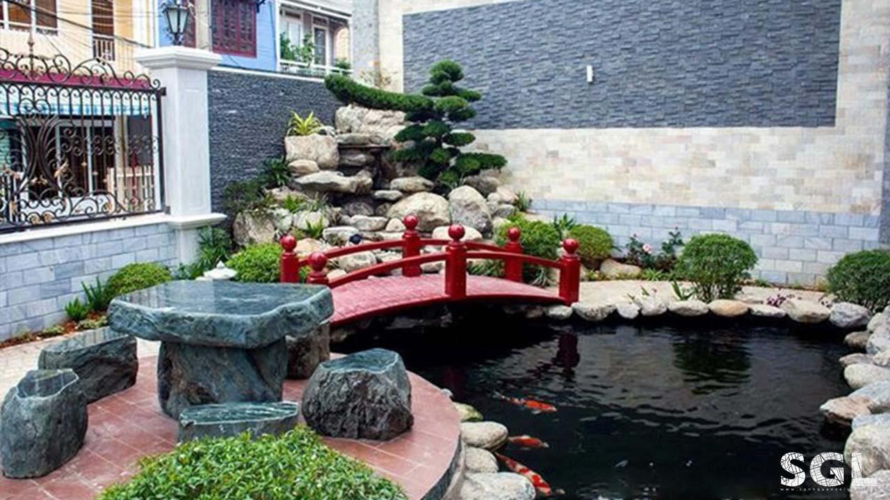 hồ cá koi sân vườn biệt thự