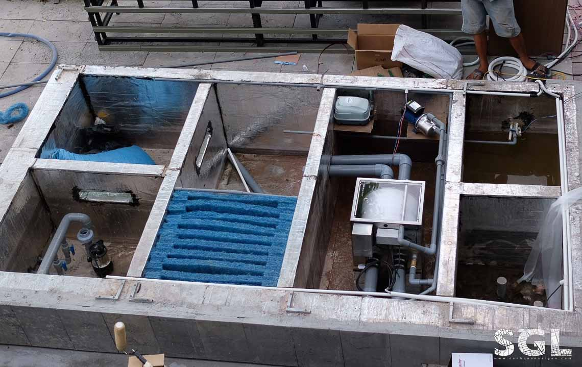 hầm lọc hồ cá koi