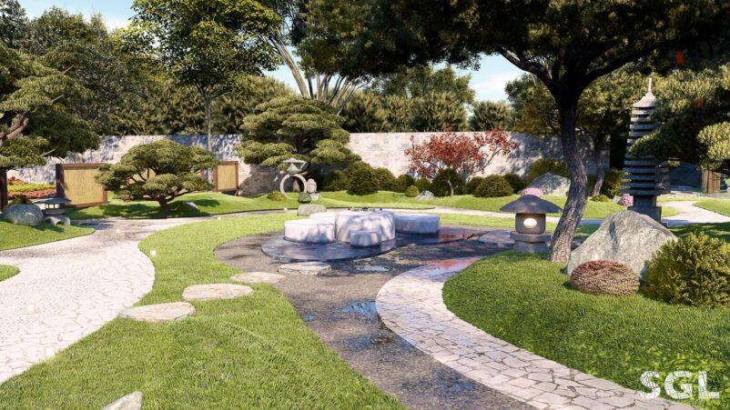 Nghệ thuật sân vườn Nhật Bản hữu hình