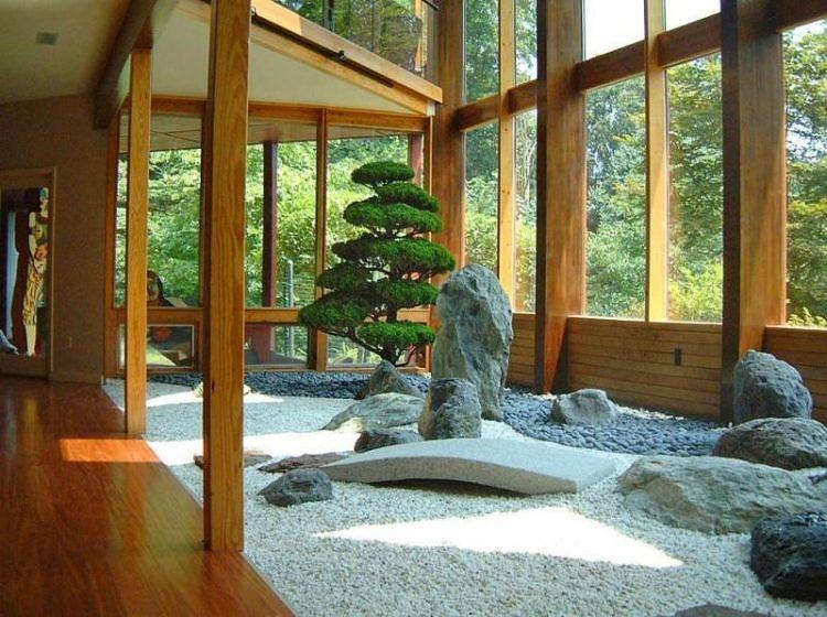 Vườn Nhật bên trong ngôi nhà, thường mang ý nghĩa trang trí