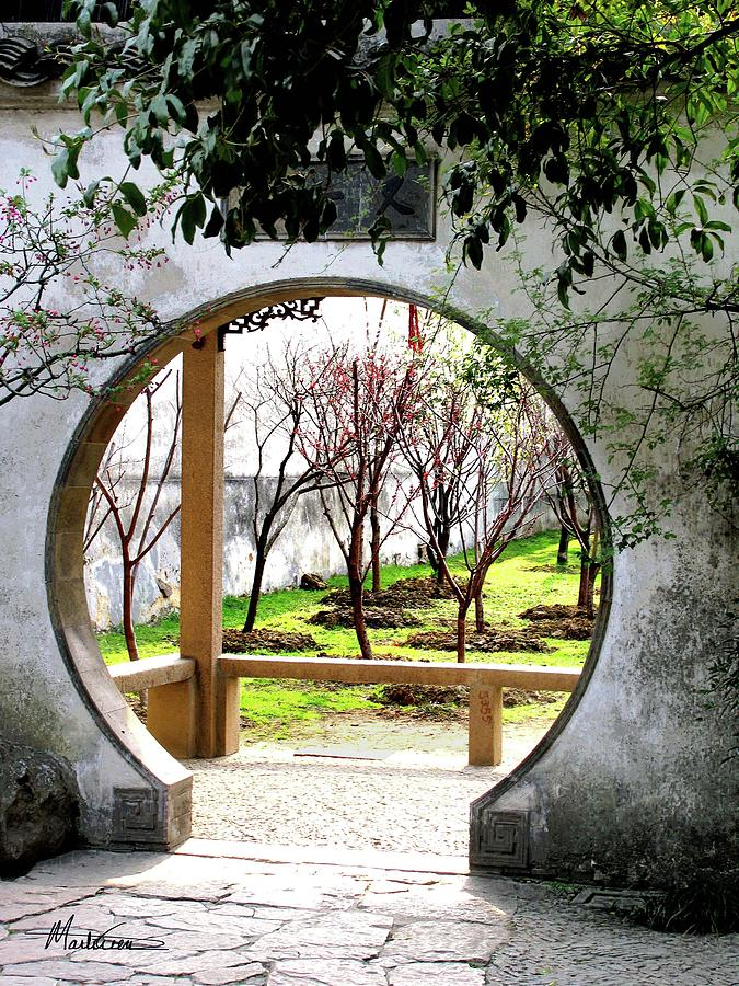 cổng nguyệt môn suzhou garden
