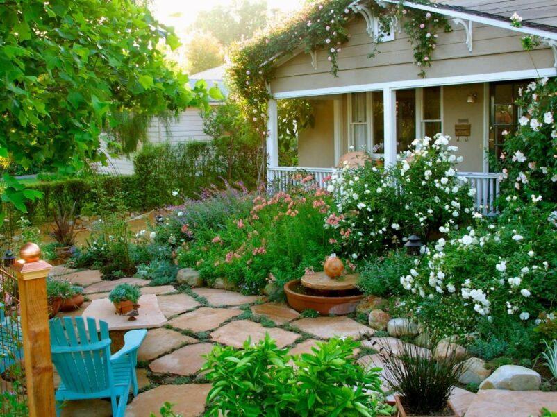 khu vườn đơn giản cho nhà cấp 4