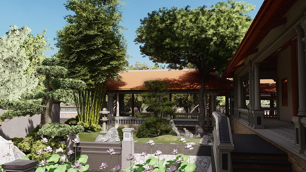 thiết kế nhà vườn đẹp ở đồng tháp