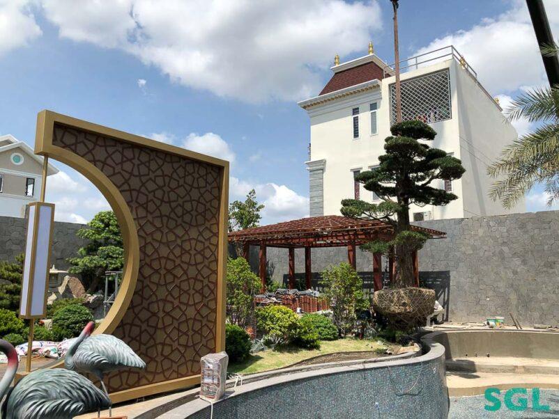 Biệt thự vườn Nhật đang trong quá trình thi công