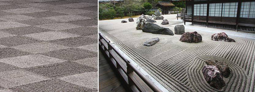 tạo hình sỏi của vườn khô karesansui