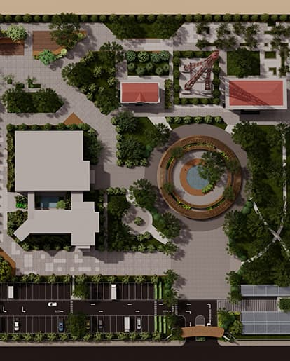 thiết kế cảnh quan đài truyền hình bình phước - SGL - Saigon Landscape