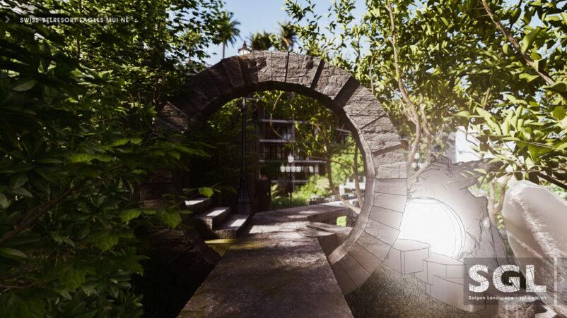 Line – Đường nét nguyên tắc quan trọng trong thiết kế sân vườn