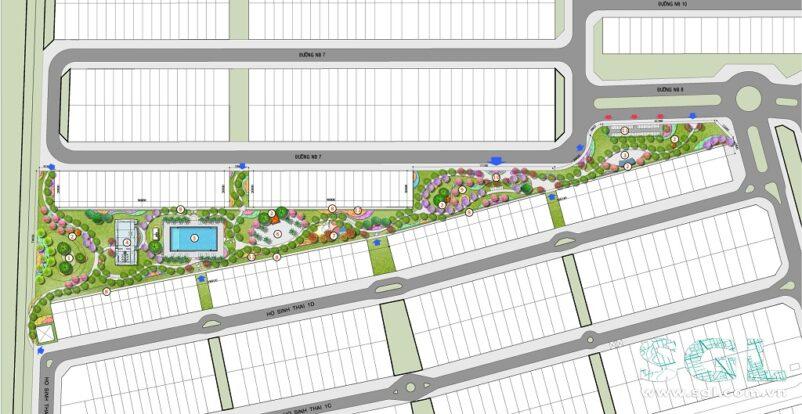 mẫu thiết kế cảnh quan khu đô thị