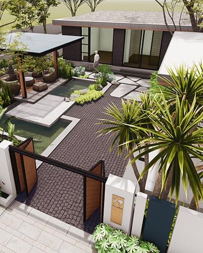 thiết kế biệt thự nhà vườn 79 house đồng tháp - SGL - Saigon Landscape