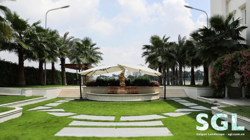Dự án Thiết Kế Sân Vườn Biệt Thự Cổ Điển - Thảo Điền SGL
