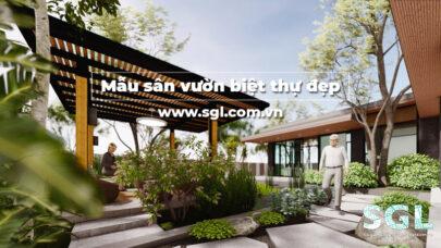 mẫu sân vườn biệt thự đẹp SGL