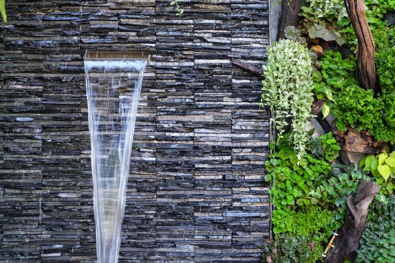 lợi ích tiểu cảnh thác nước trên tường