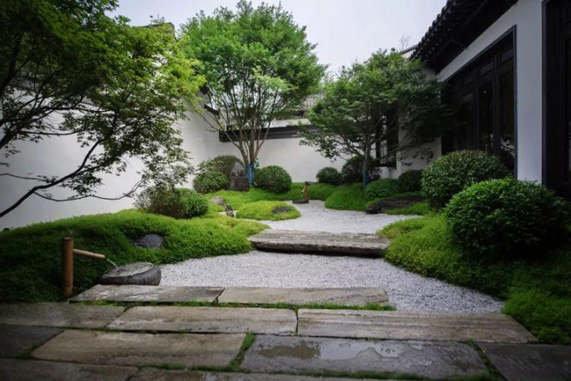 Mẫu sân vườn nhà cấp 4 phong cách Nhật