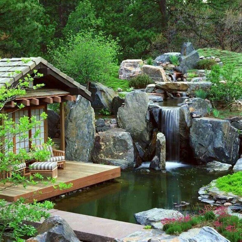 mẫu tiểu cảnh thác nước kiểu Nhật