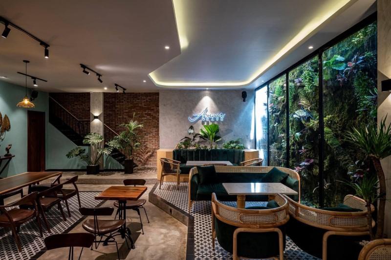 Quán cafe sân vườn đẹp - Amour Kafe