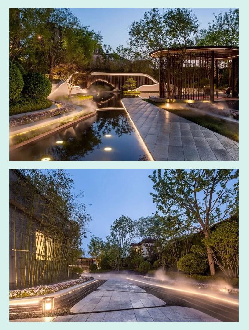 Mẫu nhà vườn 2 tầng trang trí ánh sáng đẹp