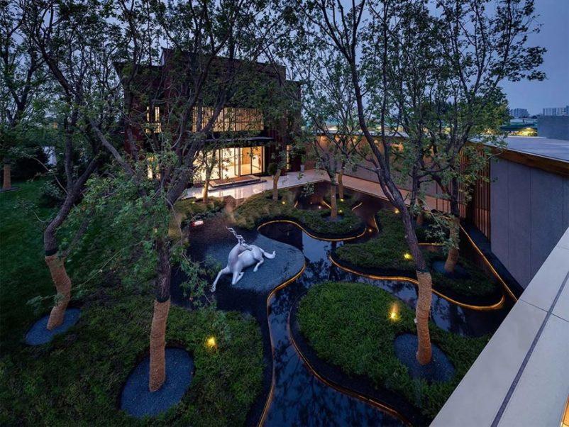 Mẫu thiết kế nhà vườn 2 tầng độc lạ