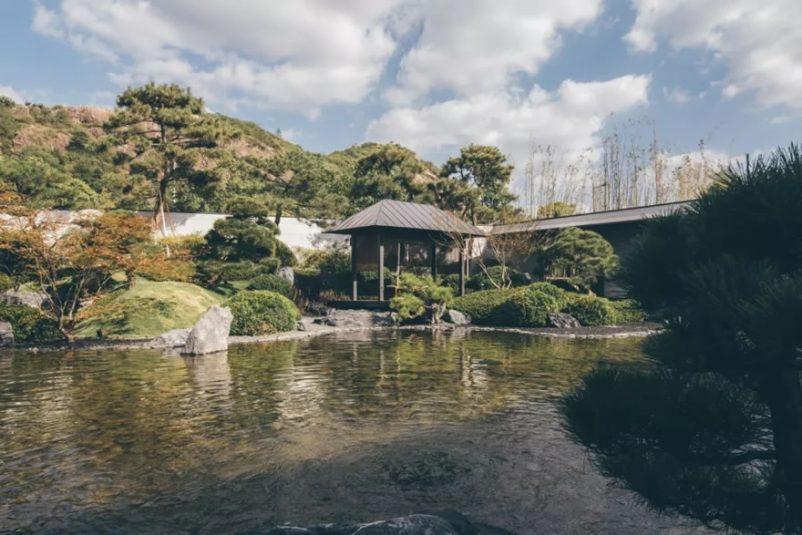 nhà gỗ sân vườn phong cách Nhật Bản
