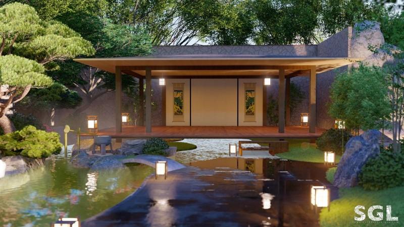 Mẫu thiết kế vườn trà Nhật Bản
