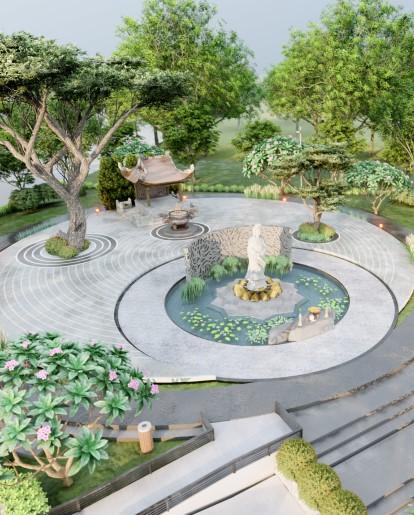 Dự án thiết kế khu tâm linh miếu ông lão - KCN Hựu Thạnh IDICO