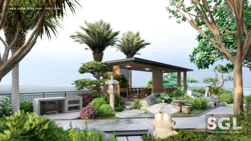 Mẫu thiết kế chòi nghỉ sân vườn đẹp hiện đại mới nhất 2021 của SGL
