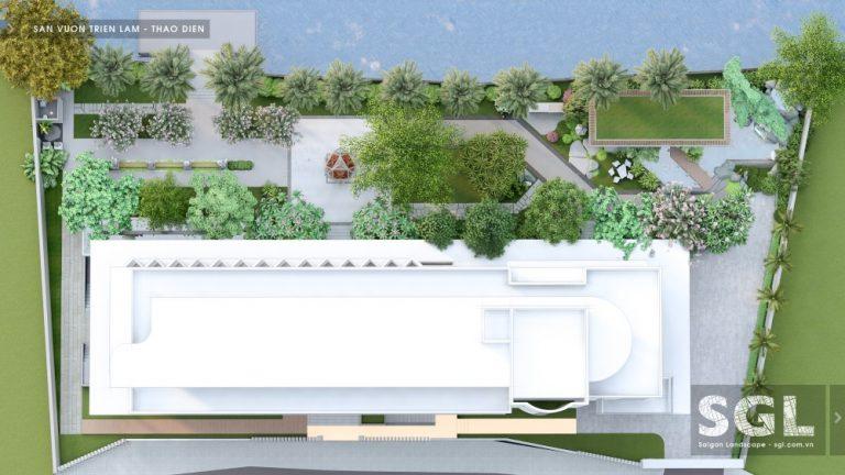 Dự án thiết kế sân vườn triển lãm tại Thảo Điền, TP.HCM