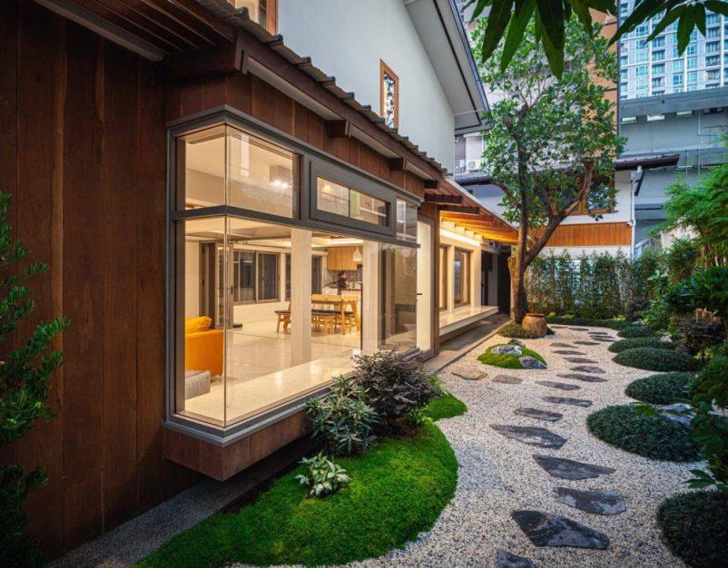Mẫu thiết kế nhà vườn phong cách tối giản của người Nhật