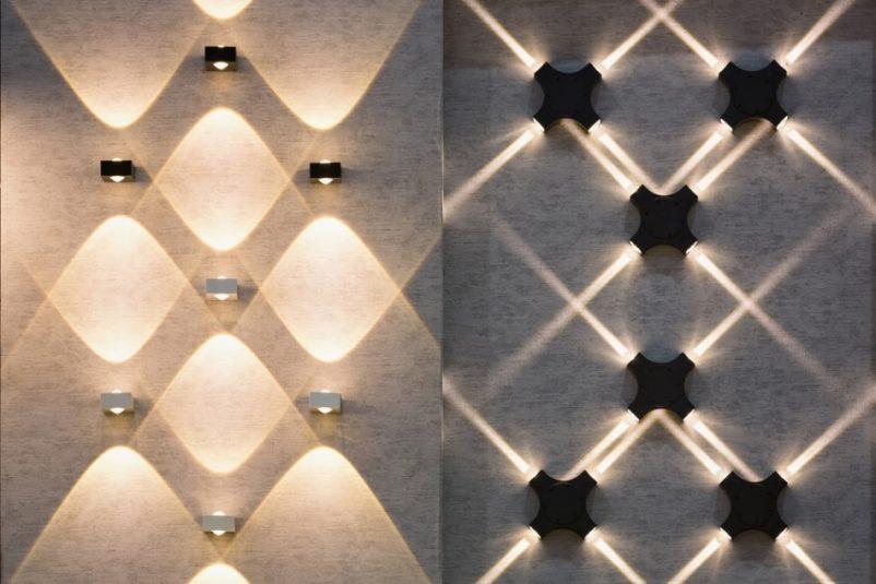 Nhiều loại đèn chiếu tường có thể tạo ra các hiệu ứng ánh sáng rất độc đáo