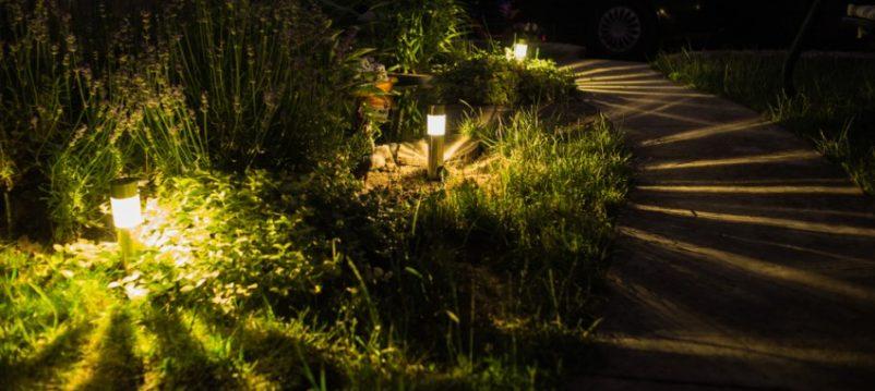 Một dạng đèn nấm sân vườn tạo ra hiệu ứng tia sáng rất độc đáo