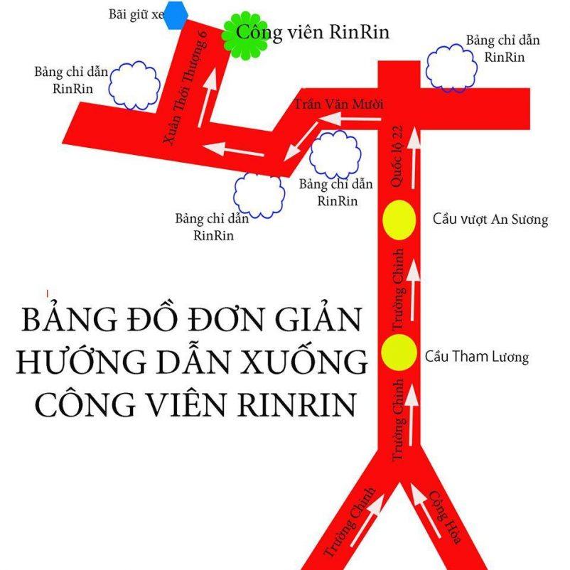 Hướng dẫn đường đi đến công viên đá Nhật Rin Rin Park
