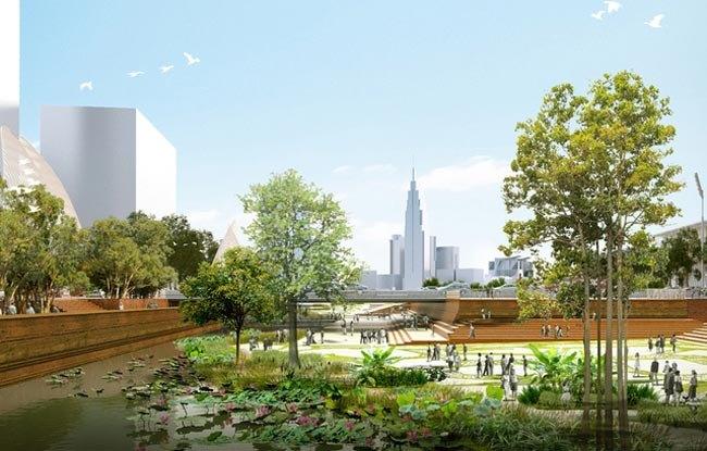 Khi chính thức đi vào hoạt động, quảng trường - công viên Thủ Thiêm vừa đáp ứng như cầu của người dân về một không gian công cộng đa chức năng vừa tạo ra không gian xanh trong lành
