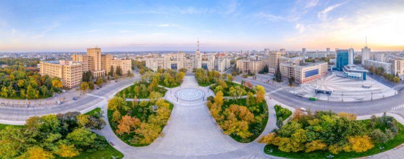 Freedom ở Ukraine một trong những quảng trường lớn nhất Châu Âu với tổng diện tích lên đến 12ha